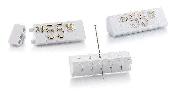 Kit de Preços (255 Peças) - Branco com Dourado