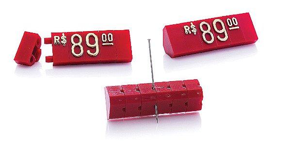 Kit de Preços (255 Peças) - Vermelho com Dourado