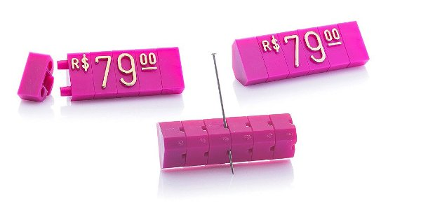 Kit de Preços 255 Peças (Rosa com Dourado)