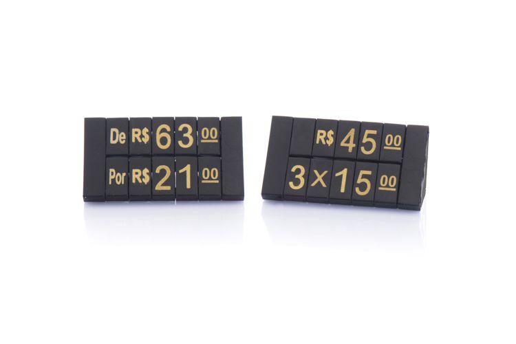 Kit de Preços para Jóias 380 Peças (Preto com Dourado)