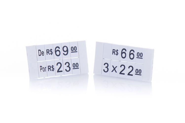 Kit de Preços para Jóias 380 Peças (Branco com Preto)