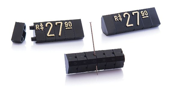 Kit de Preços (510 Peças) - Preto com Dourado