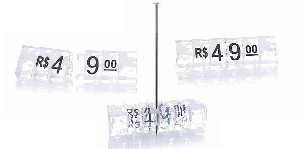 Kit de Preços para Jóias (340 Peças) - Cristal com Preto