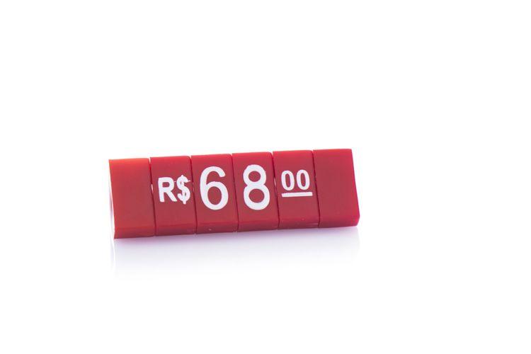 Kit de Preços para Jóias (340 Peças) - Vermelho com Branco