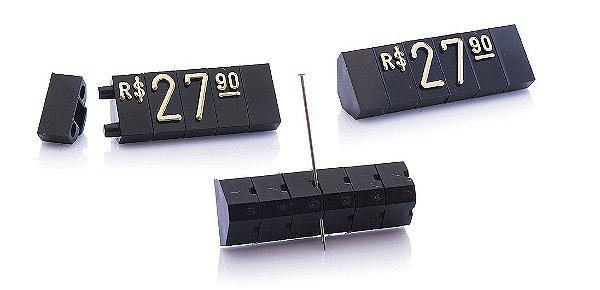 Kit de Preços (255 Peças) - Preto com Dourado