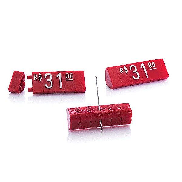 Kit de Preços (170 Peças) - Vermelho com Branco