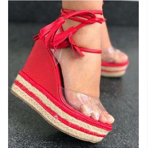 Sandália AnaBella Nova Coleção Salto Alto Vermelha 37