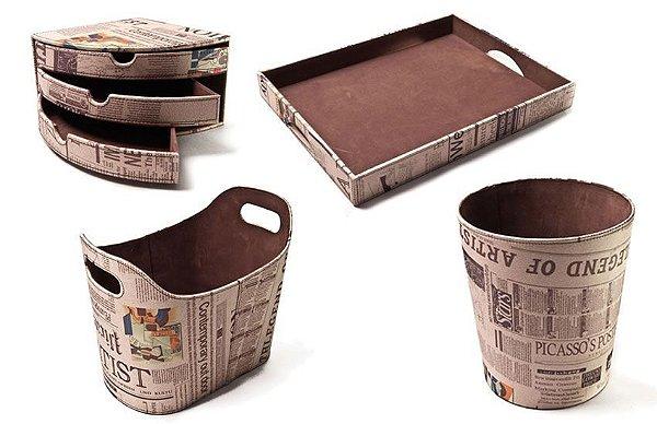 Kit Courvin Jornal revestimento Veludo