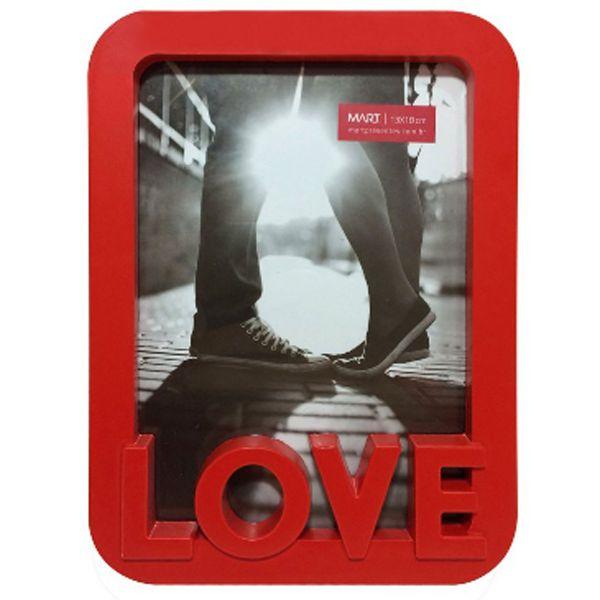 Porta Retrato Love Vermelho Mart