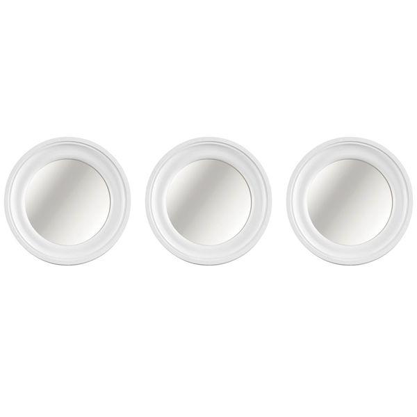 Jogo de espelhos Mart 3 peças Branco
