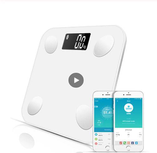 Super Balança Bluetooth Peso Corporal Massa Muscular Quantidade Água e Gordura