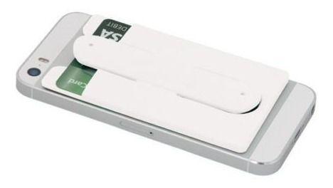 Adesivo 3m Celular Porta Cartões Com Base - White Edition