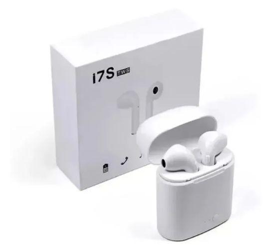 Fone de Ouvido TWS i7S sem Fio BTE Stéreo para iPhone e Android Branco