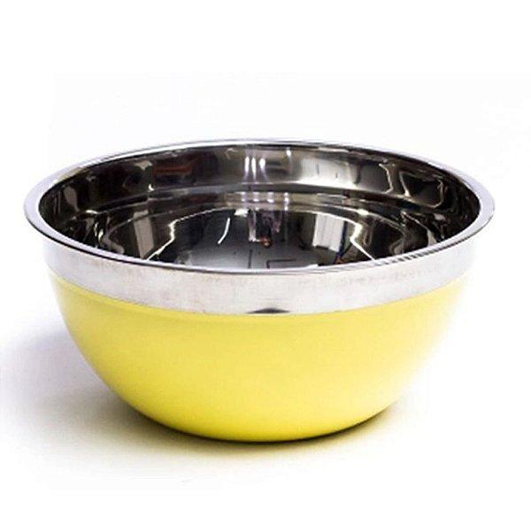 Bowl Inox Dasshaus Color Yellow 24 Cm Importado