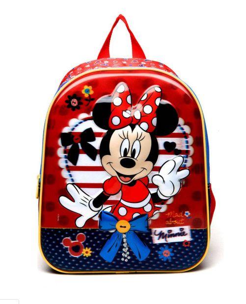 56a0cd1ee Mochila Escolar Infantil Média De Costas Minnie Mouse 3D Disney 18x -  Sestini