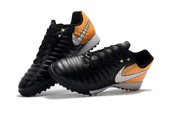 278bac4532bbb Nike Tiempo Ligera Society - preta/laranja - superfut