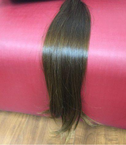 Cabelo Natural Liso – Martha Hair Nº 5 – Castanho Claro Liso (Kit com 25g)