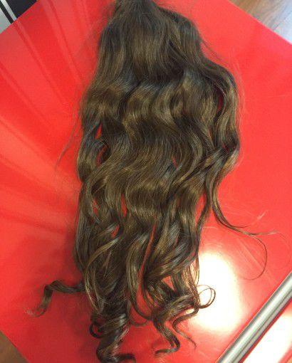 Cabelo Natural Liso – Martha Hair Nº 5 – Castanho Claro Cacheado (Kit com 25g)