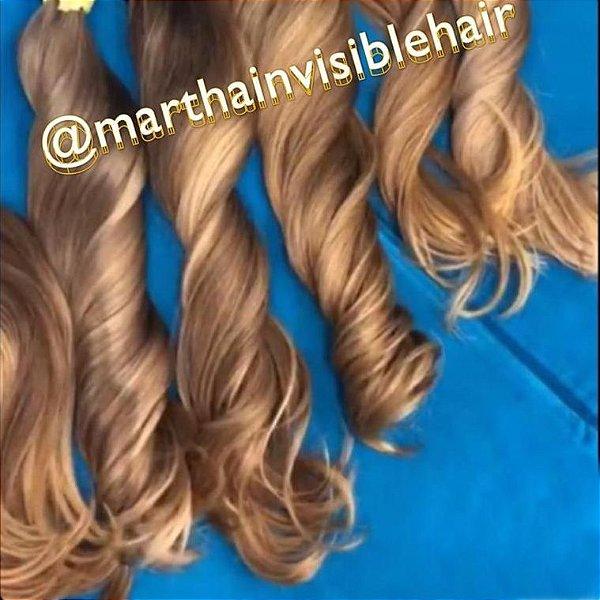 Cabelo loiro mel Martha Hair Nº 8, tipo natural, com coloração, origem brasileiro do sul (kit com 25g)