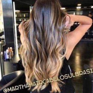 Cabelo loiro mel Martha Hair Nº 6/8, ombre hair, mechado, levemente ondulado, com coloração (kit com 25g)
