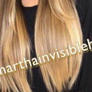 Cabelo loiro mel Martha Hair Nº 9/10, ombre hair, pontas loiras, raiz esfumada, com coloração (kit com 25g)