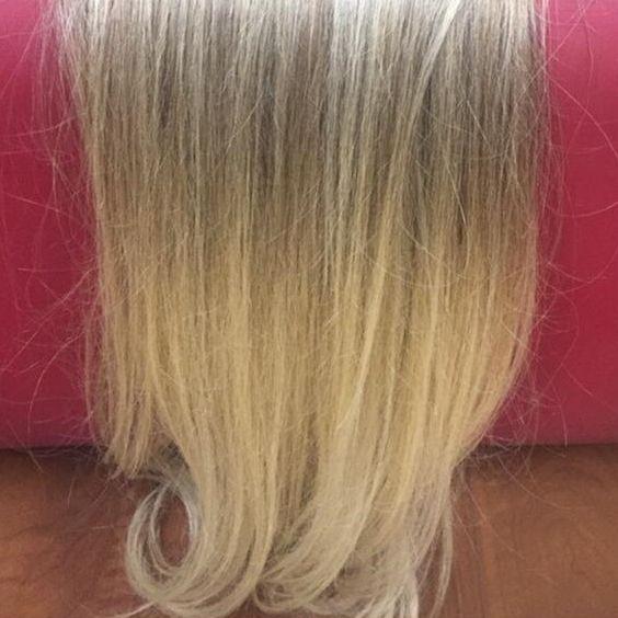 Cabelo loiro Martha Hair Nº 10.4, com coloração (kit com 25g)