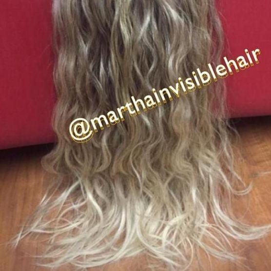 Cabelo loiro Martha Hair nº 12.1, cacheado, com coloração (kit com 25g)