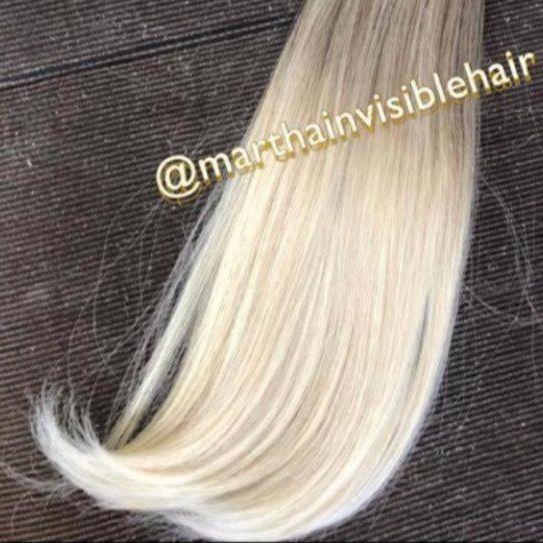 Cabelo loiro Martha Hair nº 12.1, raiz esfumada, com coloração (kit com 25g)