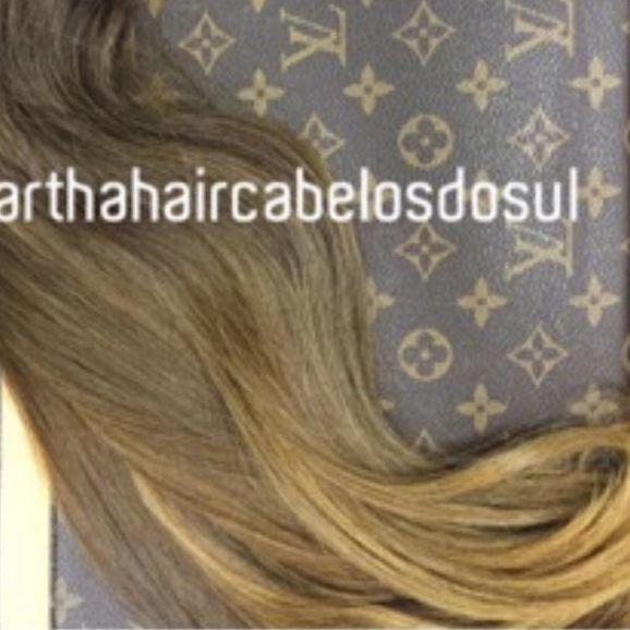 Cabelo loiro mel Martha Hair nº 7, cor natural, com coloração (kit com 25g)