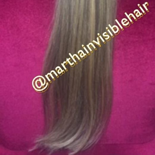 Cabelo loiro Martha Hair nº 9, mesclado, com coloração (kit com 25g)