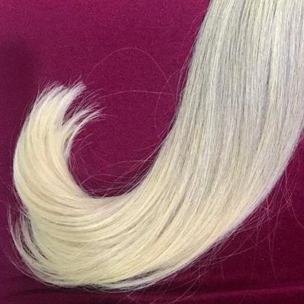 Cabelo loiro Martha Hair nº 10, raiz esfumada, com coloração (kit com 25g)