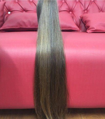 Cabelo loiro escuro Martha Hair nº 6, natural, liso (kit com 25g)