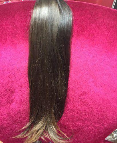 Cabelo loiro escuro Martha Hair nº 6, ombre hair, pontas, natural, liso (kit com 25g)