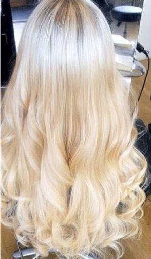 Cabelo loiro super claríssimo Martha Hair nº 12, mesclado, natural, ondulado, com coloração (kit com 25g)