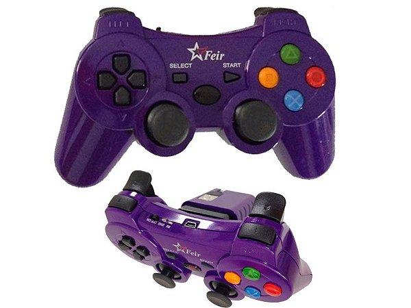 Controle Colors Sem Fio 4 in 1 Ps2-ps3-ps1-pc Bateria Recarregavel