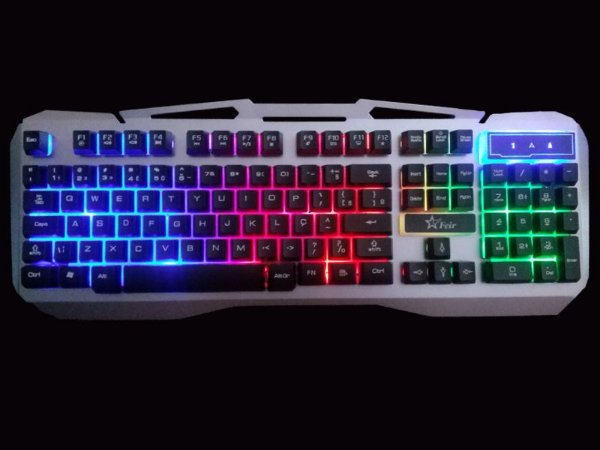 Teclado Gamer Semi Mecanico Led Usb