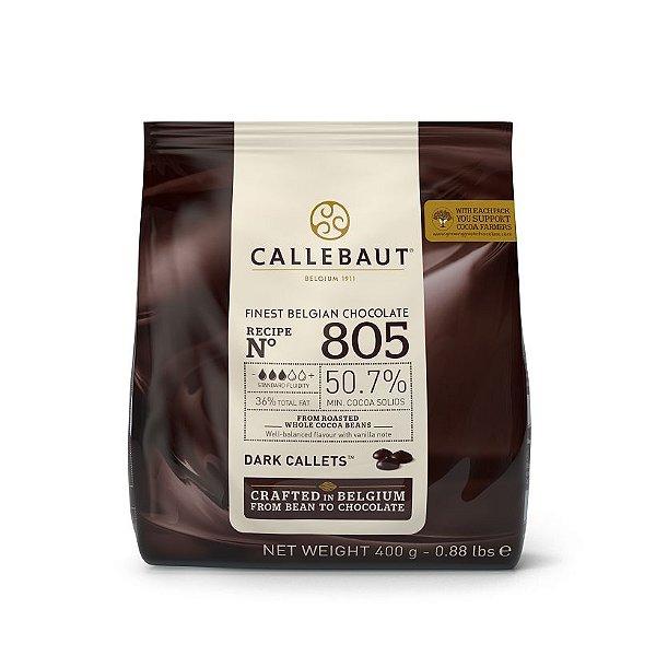 Chocolate Belga Callets/Moedas Amargo 805 (50,7% cacau) - Gotas 400g