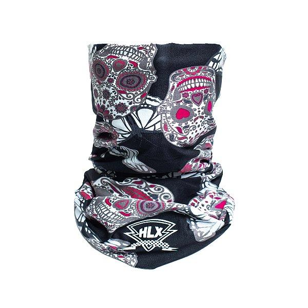 Tubo Flex - Caveiras Mexicanas Rosas