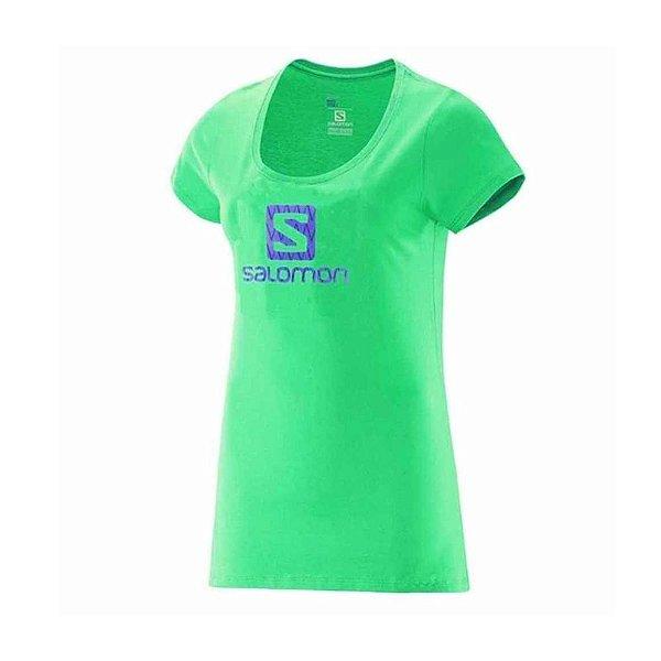 Camiseta Manga Curta Feminina Salomon Logo SS Verde Jasmin