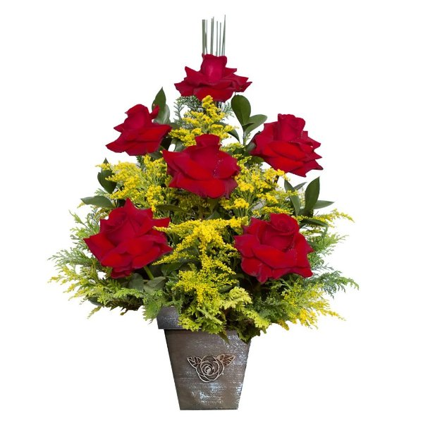 Arranjo com 6 Rosas Colombianas