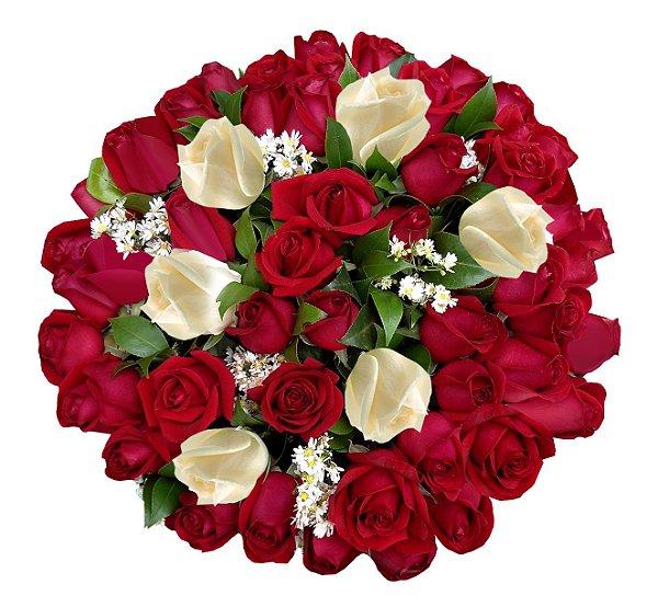 Buque Com 51 Rosas Nacionais, Sendo 06 Rosas Brancas nacionais