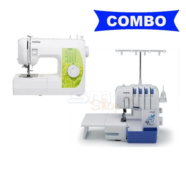 Combo Máquina de Costura Brother Bm2800 + Overlock Brother 3534DT