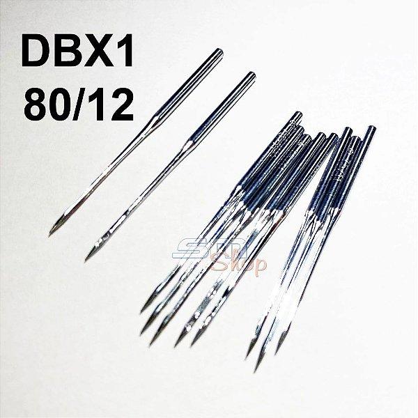 Agulha DBX1 80/12 para Máquinas de Costura e Bordado Industrial