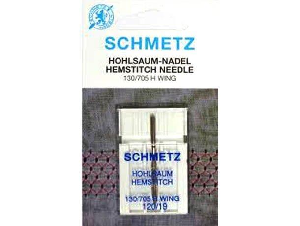 Agulha Schmetz Asa Ponto Ajour 120/19 para Máquinas de Bordado e Costura