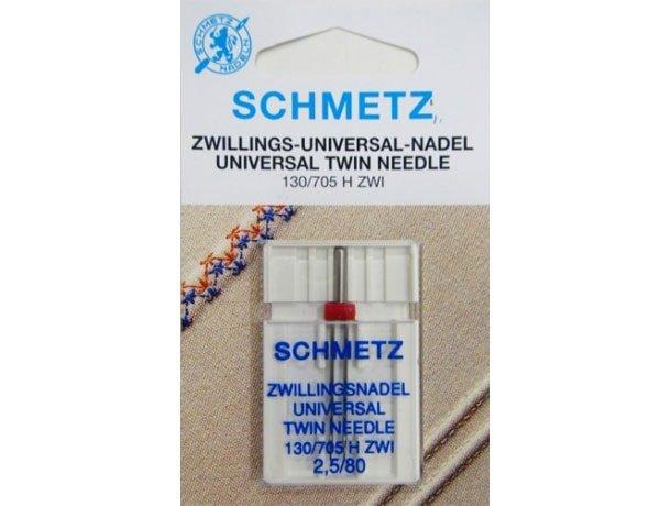 Agulha Schmetz Dupla 2.5/80 para para Máquinas de Bordado e Costura