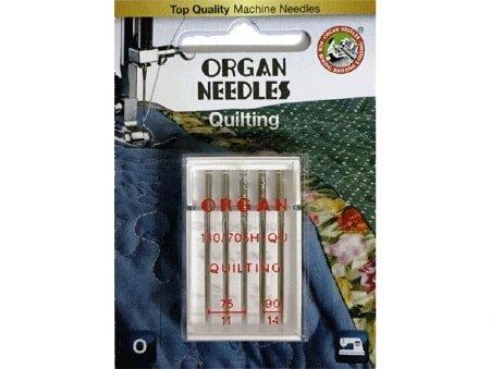 Agulha Organ Quilting 75/11 e 90/14 para Máquinas de Bordado e Costura Doméstica