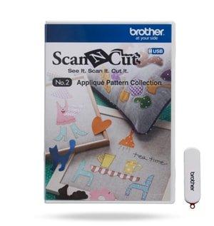 Coleção de desenhos de recorte - Aplique e Craft para Máquina Scanncut (CAUSB2)