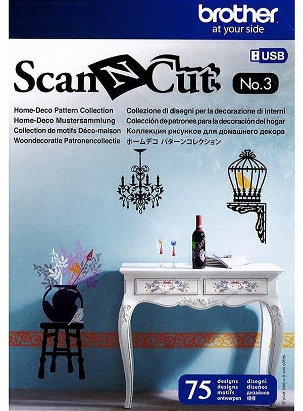 Coleção de desenho decoração de parede para Máquina Scanncut (CAUSB3)