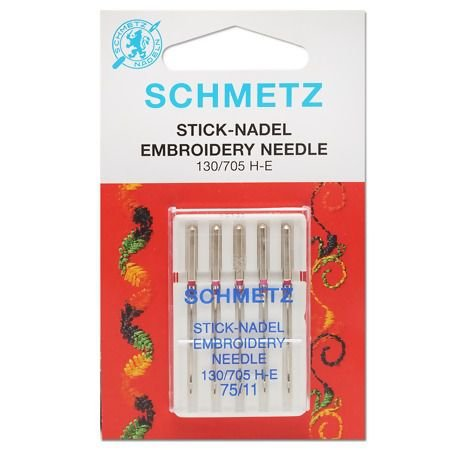 Agulha Schmetz Embroidery 75/11 para Máquinas de Costura Doméstica
