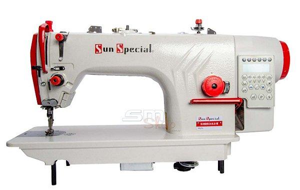 Máquina de Costura Reta Industrial Sun Special  SS-9988-H-D4-M-JU Direct Drive com Kit Calcadores + Bobinas + Agulhas